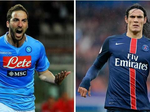 Chelsea targeting double signing of Gonzalo Higuain and Edinson Cavani