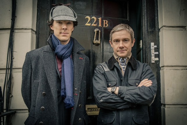 EDITORIAL USE ONLY / NO MERCHANDISING / BOOK PUBLISHING TO BE CLEARED BEFORE USE Mandatory Credit: Photo by Hartswood Films/REX/Shutterstock (4273017a) Benedict Cumberbatch and Martin Freeman 'Sherlock' TV Programme. - 2014