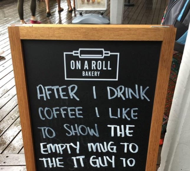 12 funny chalkboard signs outside coffee shops, pubs and ...