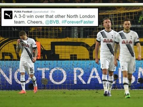 Arsenal's kit manufacturers Puma troll Tottenham over Borussia Dortmund hammering