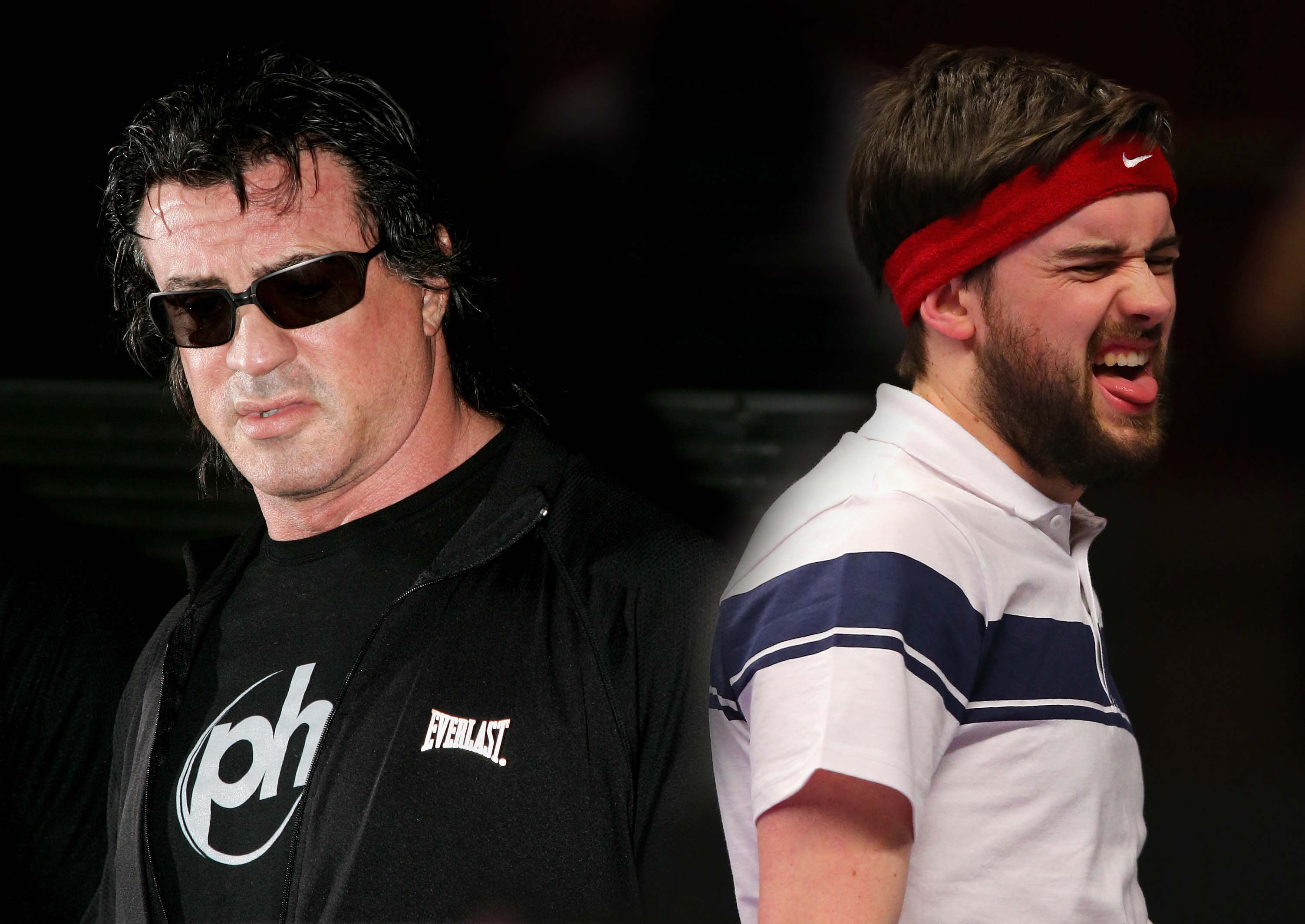 Sly Stallone is not happy with Jack Whitehall