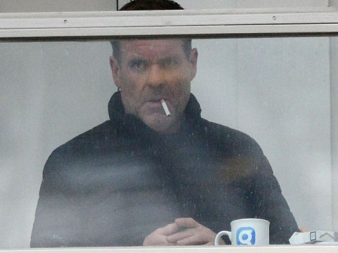 Chris Moyles flouts smoking ban by lighting up a cigarette INSIDE the Radio X building