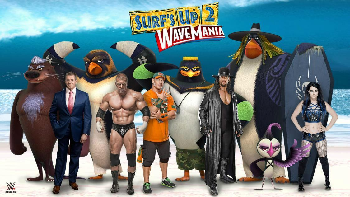 The Undertaker, John Cena and other WWE wrestlers become animated sea creatures for Surf's Up sequel