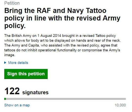 RAF reject Laura Hill because of small tattoo despite losing