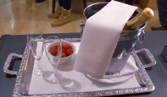 You can get champagne service (Picture: BBC)