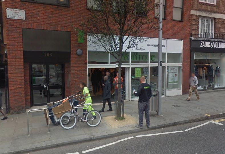 The Waitrose in Kings Road, Chelsea, where the assault is alleged to have taken place (Picture: Google Street View)