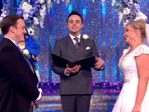 Sorry everyone, but that wedding on Ant and Dec's Saturday Night Takeaway was fake