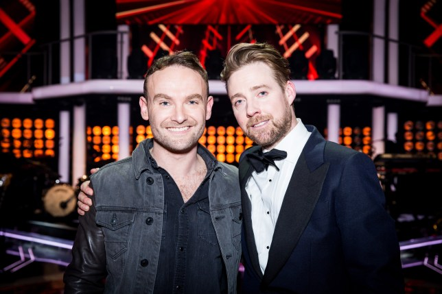 Programme Name: The Voice - TX: 09/04/2016 - Episode: The Voice - Episode 14 (No. 14) - Picture Shows: THE VOICE - FINAL - WINNER! Ricky Wilson, Kevin Simm - (C) WALL TO WALL - Photographer: GUY LEVY