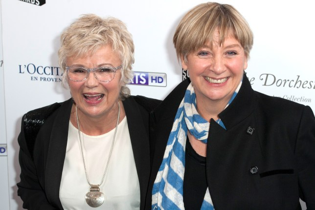LONDON, UNITED KINGDOM - MARCH 12: Julie Walters and Victoria Wood attends the South Bank Sky Arts Awards at The Dorchester on March 12, 2013 in London, England. (Photo by Simon Burchell/Getty Images)