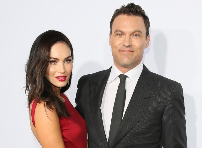 BEVERLY HILLS, CA - OCTOBER 11: Actress Megan Fox and Brian Austin Green attend Ferrari's 60th Anniversary in the USA Gala at the Wallis Annenberg Center for the Performing Arts on October 11, 2014 in Beverly Hills, California.(Photo by JB Lacroix/WireImage)