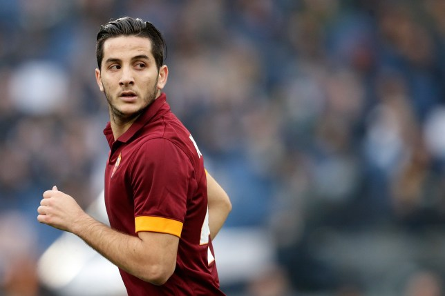 Kostas Manolas of AS Roma during the Serie A match between AS Roma and Lazio Roma on January 11,2014 at the Stadio Olimpico in Rome, Italy.(Photo by VI Images via Getty Images)