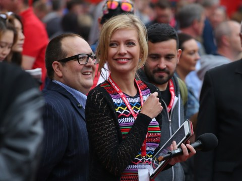 Manchester United fan Rachel Riley dazzles fans on Soccer AM