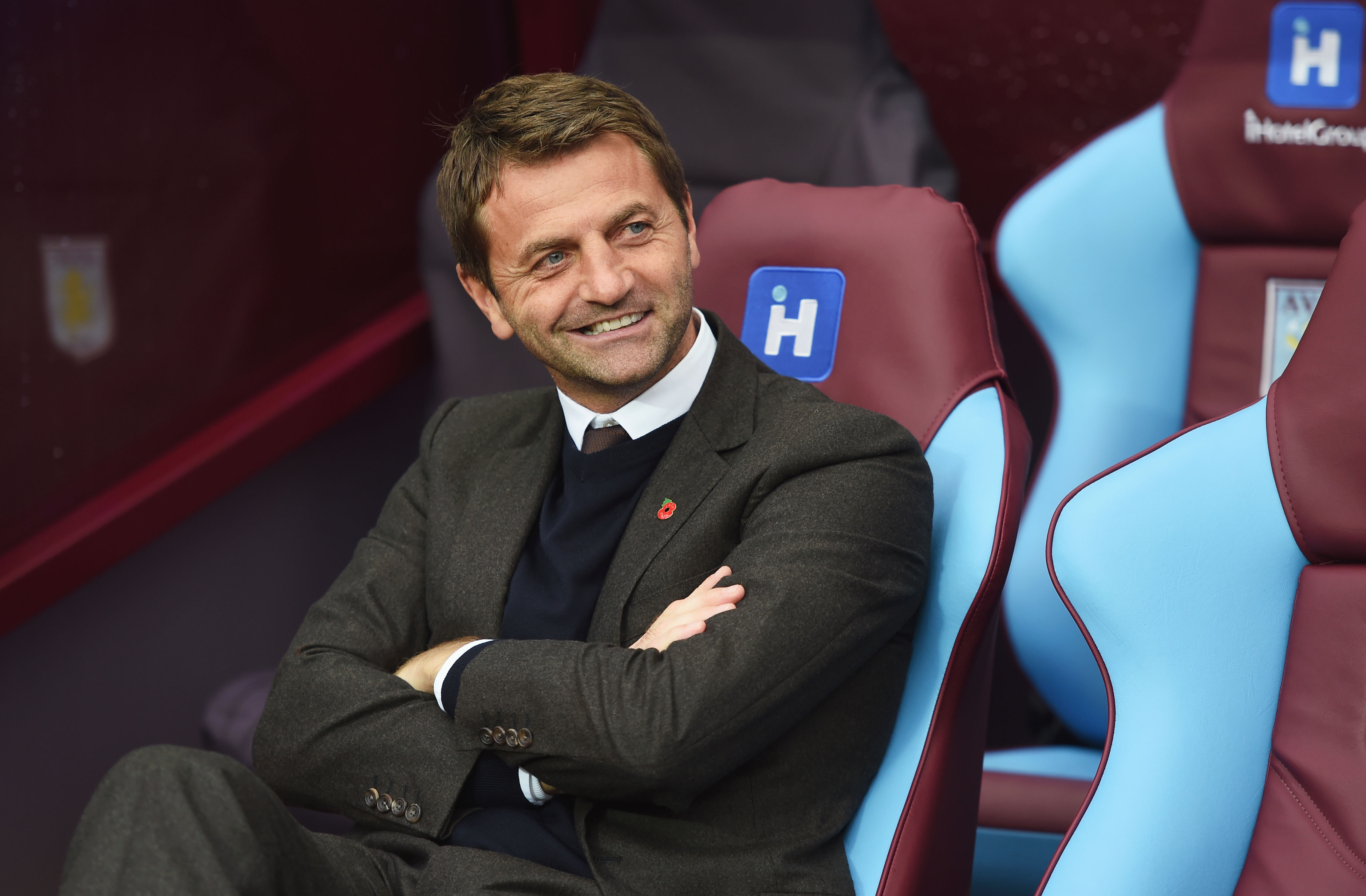 BIRMINGHAM, ENGLAND - OCTOBER 24: Tim Sherwood Manager of Aston Villa looks on prior to the Barclays Premier League match between Aston Villa and Swansea City at Villa Park on October 24, 2015 in Birmingham, England. (Photo by Michael Regan/Getty Images)