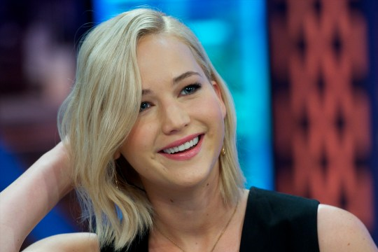 Jennifer Lawrence attends 'El Hormiguero' Tv show at Vertice Studio on November 26, 2015 in Madrid, Spain. (Photo by Juan Naharro Gimenez/Getty Images)