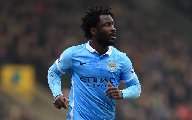 NORWICH, ENGLAND - MARCH 12: Wilfried Bony of Manchester City during the Barclays Premier League match between Norwich City and Manchester City at Carrow Road on March 12, 2016 in Norwich, England. (Photo by Stephen Pond/Getty Images)