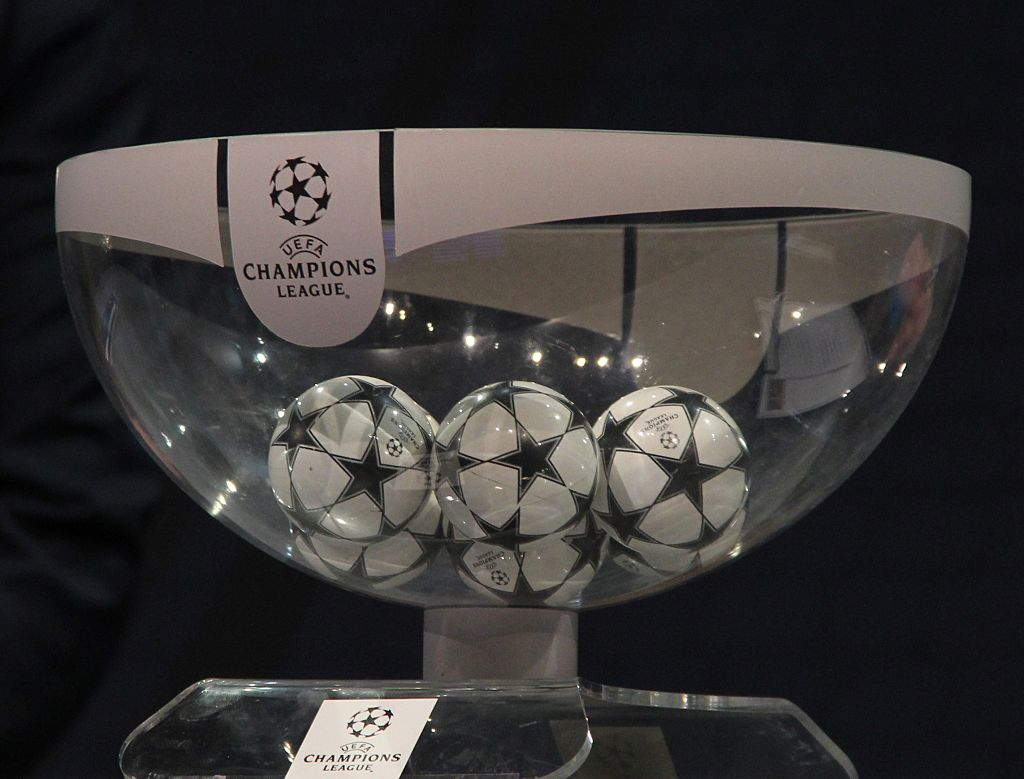 When is the draw to see who Manchester City and Liverpool will face in the Champions League and Europa League semi-finals?