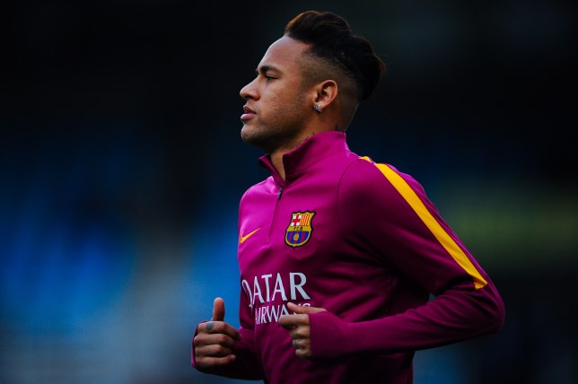 SAN SEBASTIAN, SPAIN - APRIL 09: Neymar of FC Barcelona warms up prior to the La Liga match between Real Sociedad de Futbol and FC Barcelona at Estadio Anoeta on April 9, 2016 in San Sebastian, Spain. (Photo by David Ramos/Getty Images)