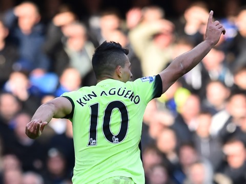 Where does Manchester City's Sergio Aguero rank in the Premier League's list of great strikers?