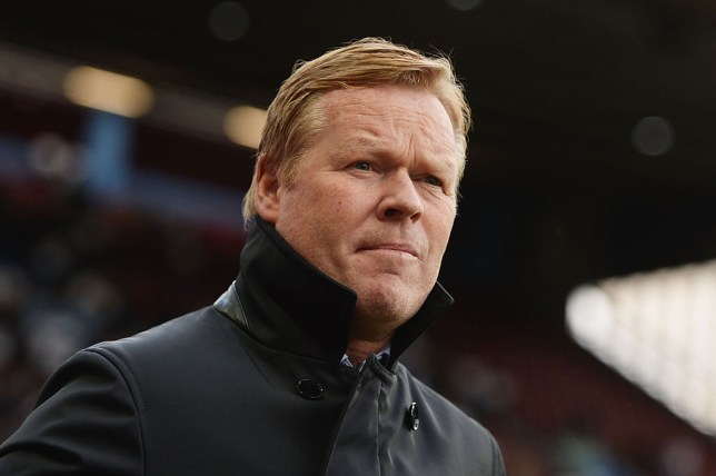 BIRMINGHAM, ENGLAND - APRIL 23: Ronald Koeman manager of Southampton looks on during the Barclays Premier League match between Aston Villa and Southampton at Villa Park on April 23, 2016 in Birmingham, United Kingdom. (Photo by Gareth Copley/Getty Images)