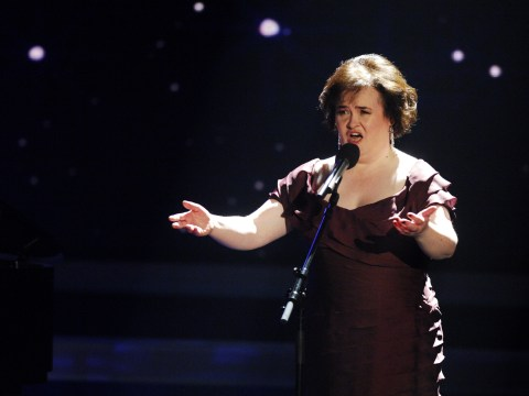 Susan Boyle slams claims she is 'in tears' over fears of being dropped by Simon Cowell record label
