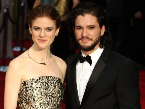 Kit Harington and Rose Leslie make their red carpet debut as a couple at the Olivier Awards