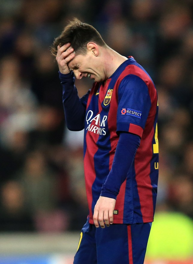 FILE PHOTO: Reports surrounding the Panama Leaks suggest Michel Platini and Lionel Messi both implicated Barcelona's Lionel Messi rues a missed chance ... Soccer - UEFA Champions League - Round of 16 - Second Leg - Barcelona v Manchester City - Camp Nou ... 18-03-2015 ... Barcelona ... Spain ... Photo credit should read: Mike Egerton/EMPICS Sport. Unique Reference No. 22545518 ...