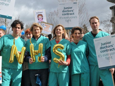 There was an incredible Green Wing reunion for the junior doctors strike at the hospital where series was filmed