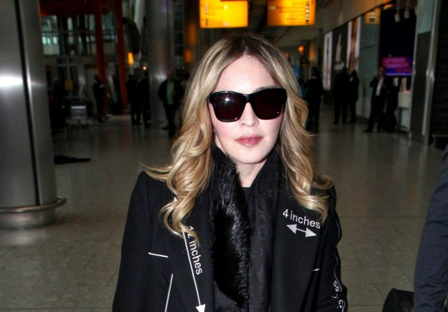 Picture Shows: Madonna April 07, 2016 Madonna spotting arriving into the UK from New York in the midst of a bitter custody battle at Heathrow Airport in west London, England. Non Exclusive WORLDWIDE RIGHTS Pictures by : FameFlynet UK © 2016 Tel : +44 (0)20 3551 5049 Email : info@fameflynet.uk.com