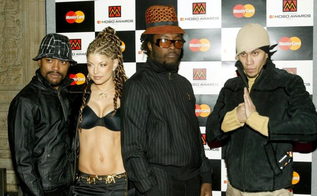 Mandatory Credit: Photo by REX/Shutterstock (429694v)nBLACK EYED PEASnMOBO MUSIC OF BLACK ORIGIN AWARDS AT THE ROYAL ALBERT HALL, LONDON, BRITAIN - 25 SEP 2003nn