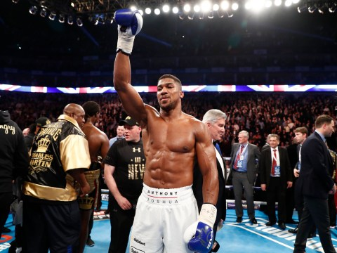 Anthony Joshua wins the IBF world heavyweight title with second-round KO of Charles Martin