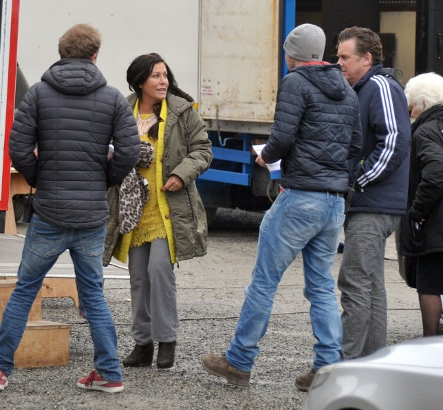 Picture Shows: Jessie Wallace, Shane Richie April 11, 2016 * Min Web / Online Fee £250 For Set * First day of filming on the set of the 'Eastenders' spin-off called 'Redwater', starring Jessie Wallace and Shane Richie as their characters Kat and Alfie Moon. In the show, Kat and Alfie leave Albert Square and travel to Ireland in search of Kat's long lost son who was taken away from her at birth and put up for adoption. Also spotted on set was Irish actress Fionnula Flanagan. * Min Web / Online Fee £250 For Set * Exclusive All Rounder WORLDWIDE RIGHTS - NO IRELAND Pictures by : FameFlynet UK © 2016 Tel : +44 (0)20 3551 5049 Email : info@fameflynet.uk.com