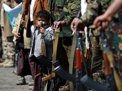 Child soldiers of Yemen: The youthful faces of boys, as young as 10, fighting in the conflict