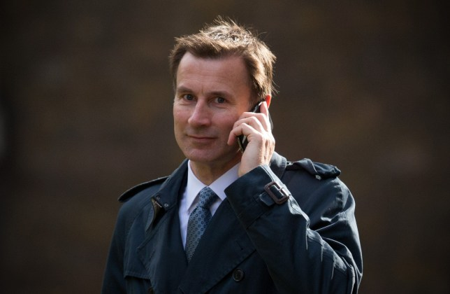 LONDON, ENGLAND - APRIL 12: Secretary of State for Health Jeremy Hunt arrives for a cabinet meeting at 10 Downing Street on April 12, 2016 in London, England. Prime Minister David Cameron will host the weekly cabinet meeting as controversy continues over alleged offshore tax arrangements. (Photo by Carl Court/Getty Images)