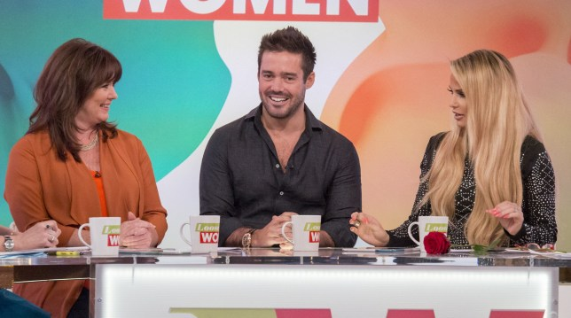 EDITORIAL USE ONLY. NO MERCHANDISING Mandatory Credit: Photo by S Meddle/ITV/REX/Shutterstock (5635929o) Coleen Nolan, Spencer Matthews, Katie Price 'Loose Women' TV show, London, Britain - 12 Apr 2016