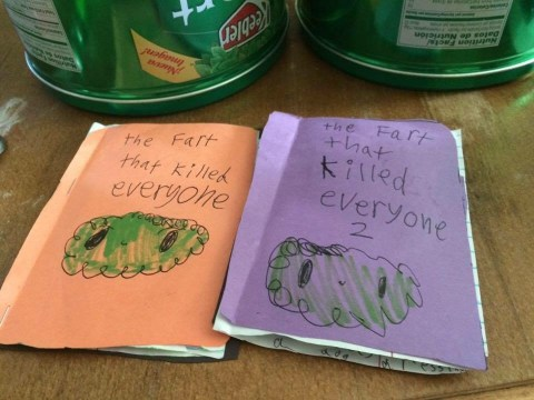 Eight-year-old literary genius publishes first two books in trilogy