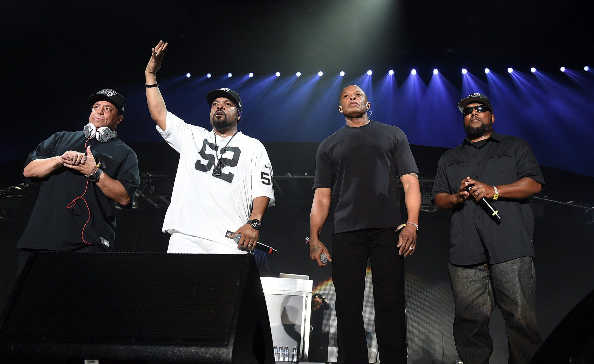 Dr Dre joined Ice Cube for an N.W.A. reunion at Coachella but he only rapped HIS hits