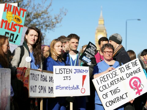 Junior doctors in first all-out strike in NHS history
