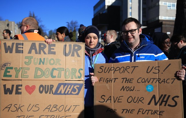 Doctors at Sheffield Royal Hallamshire Hospital An all out junior doctors strike has started this morning April 26 2016. No emergency cover will provided by the junior doctors, putting maternity units and others under serious pressure.
