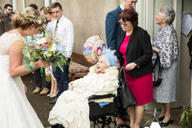 100yoA grandmother-of-four has become Britainís oldest bridesmaid after following her granddaughter down the aisle