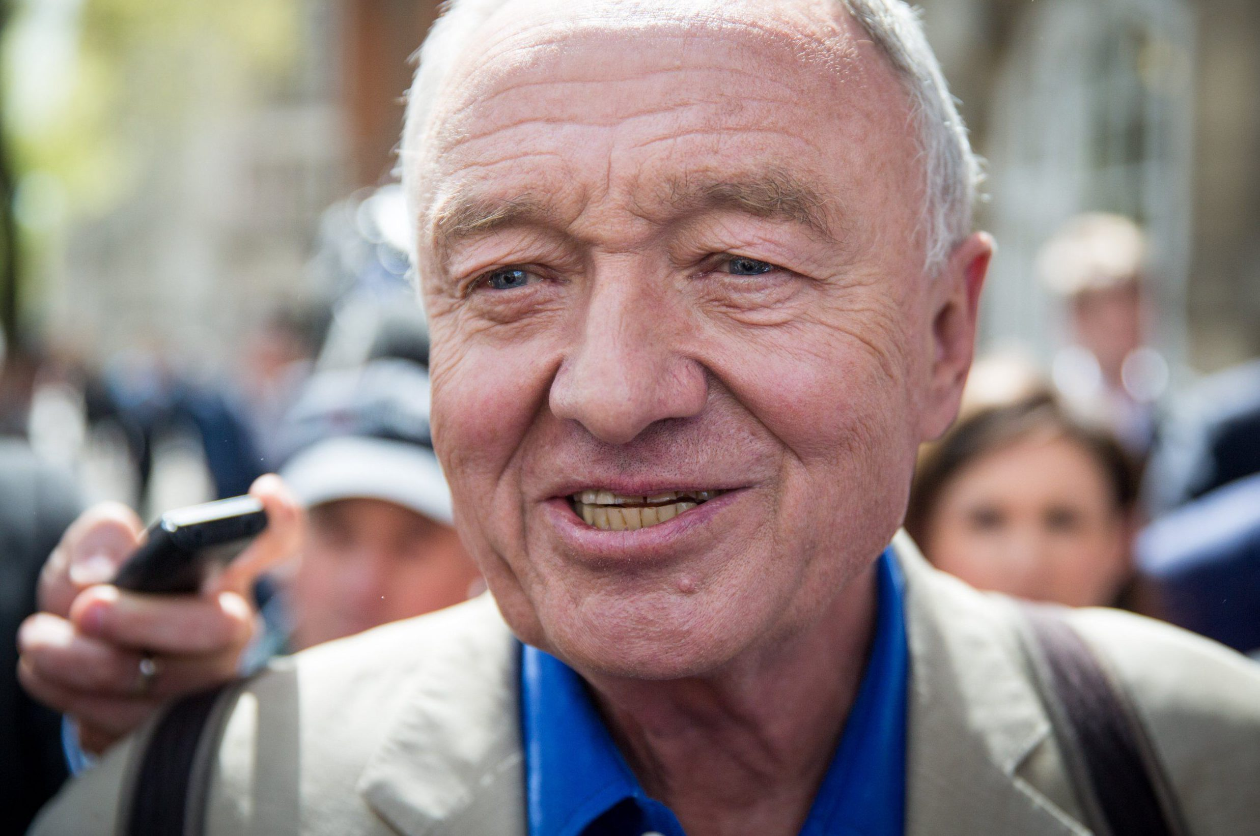 LONDON, ENGLAND - APRIL 28: Ken Livingstone leaves Millbank Studios on April 28, 2016 in London, England. London Mayoral candidate and Labour MP for Tooting, Sadiq Khan, has called for Mr Livingstone to be expelled from Labour Party for comments made while defending Naz Shah, the Labour MP suspended over 'anti-Semitic' comments. (Photo by Rob Stothard/Getty Images)