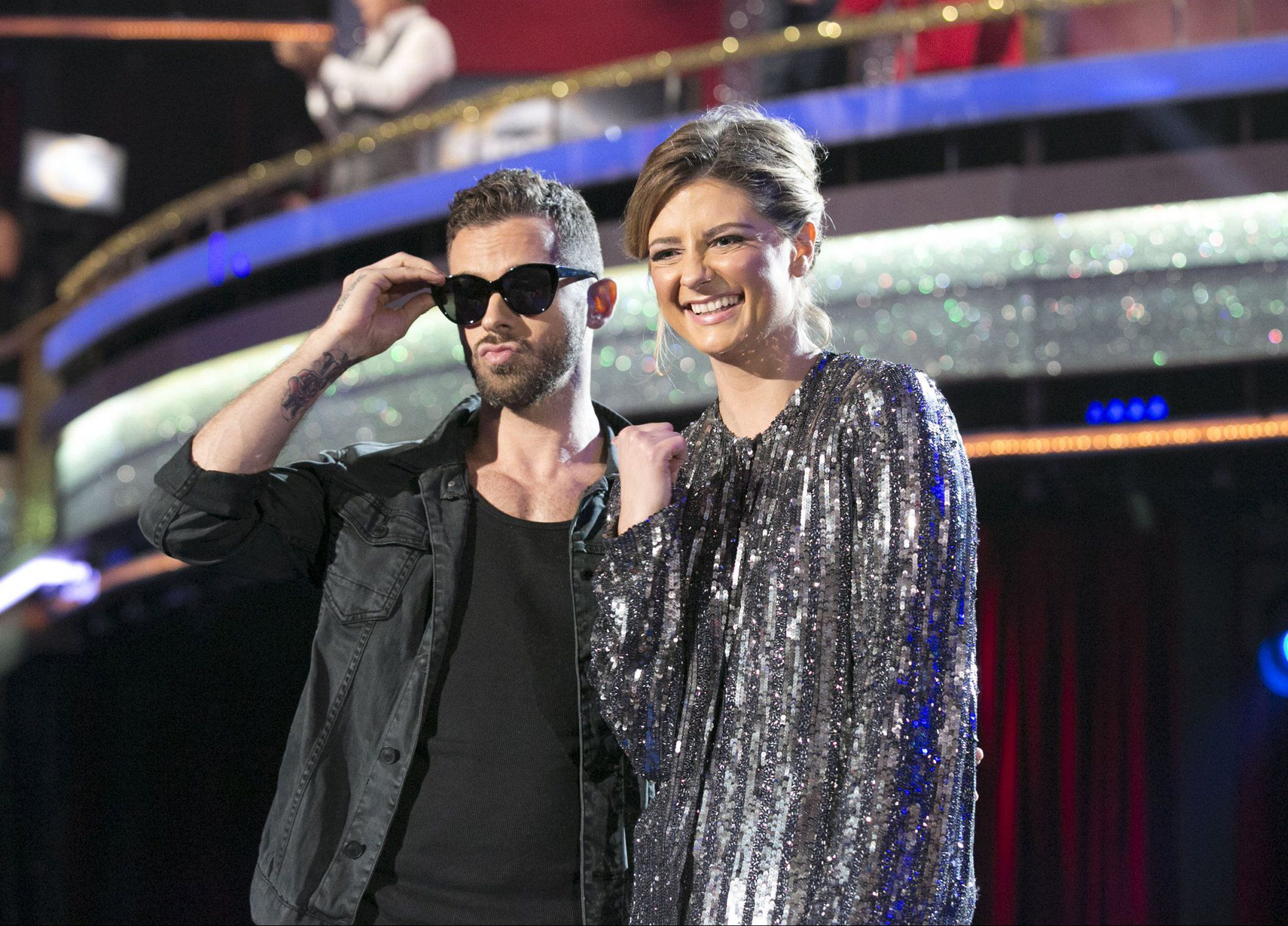 """DANCING WITH THE STARS - """"Episode 2203 - The remaining celebrities will set out to leave a lasting impression with their dances as they commemorate their most memorable year, on """"Dancing with the Stars,"""" live, MONDAY, APRIL 4 (8:00-10:01 p.m. EDT) on the ABC Television Network. (Photo by Adam Taylor/ABC via via Getty Images) ARTEM CHIGVINTSEV, MISCHA BARTON"""