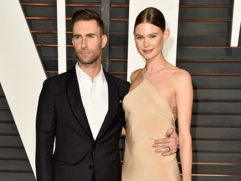 Adam Levine and Behati Prinsloo share first picture of newborn daughter Dusty Rose