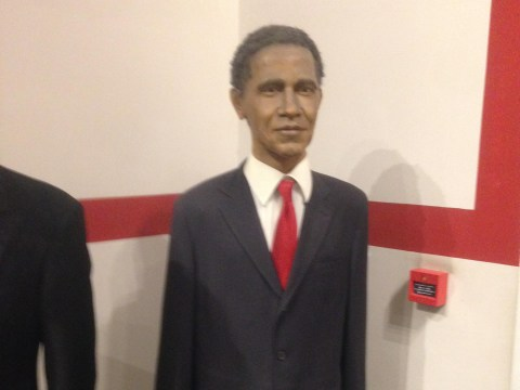 Can you tell who this waxwork is supposed to be?