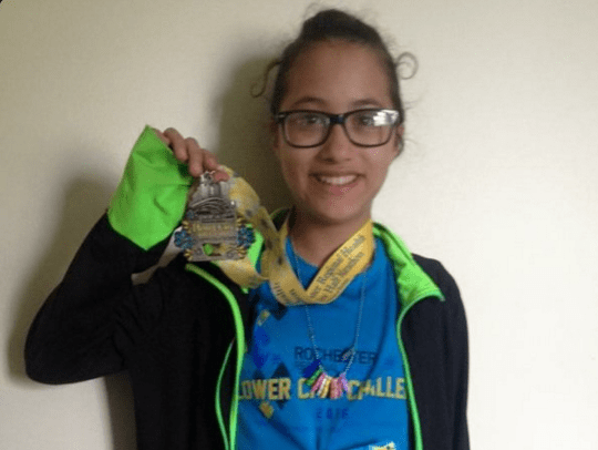 Girl joins 13-mile half-marathon by mistake, finishes it anyway