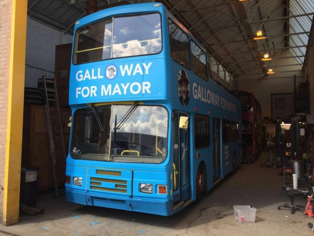 Galloway's mayoral bus got robbed last night