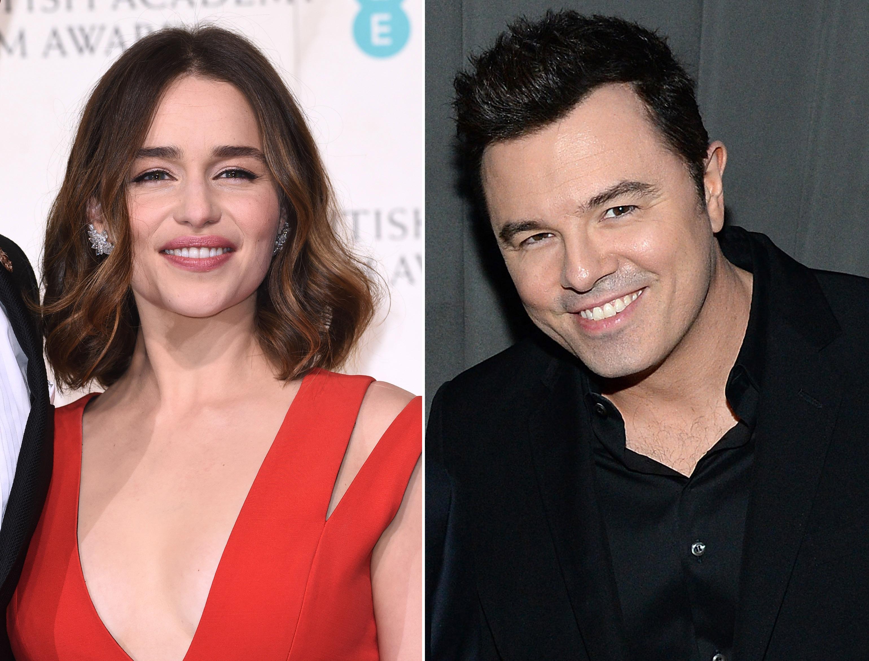 Emilia Clarke and Seth MacFarlane are dating (David Fisher/REX/Shutterstock)