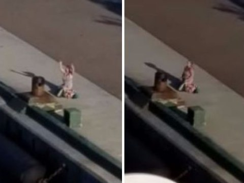 Mum filmed crying on port as cruise ship leaves with her kids on board