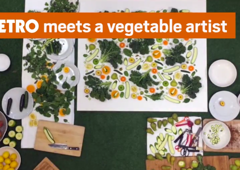 Artist makes stunning Instagram images out of fruit and veg
