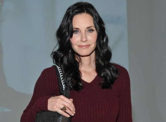 Actress Courteney Cox attends the NewbarK fall 2012 presentation during Mercedes-Benz Fashion Week at Milk Studios on February 13, 2012 in New York City. NEW YORK, NY - FEBRUARY 13: (Photo by Mike Coppola/Getty Images)