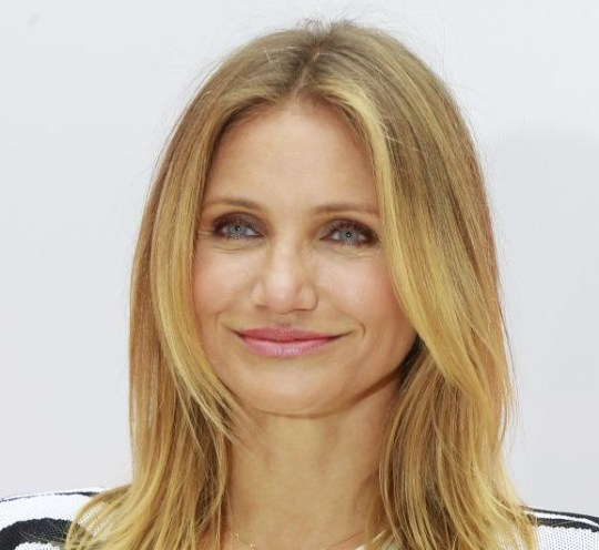 Actress Cameron Diaz poses for photographers during a photocall for the film Sex Tape, in Paris, France, Thursday, Sept. 4, 2014. (AP Photo/Jacques Brinon)